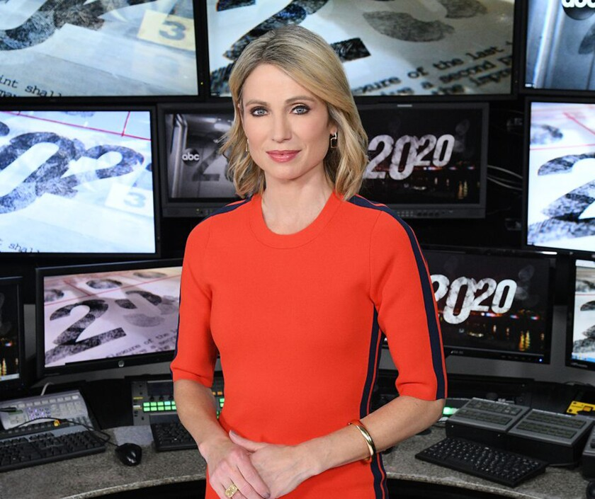 "ABC News ""20/20"" co-anchor Amy Robach."