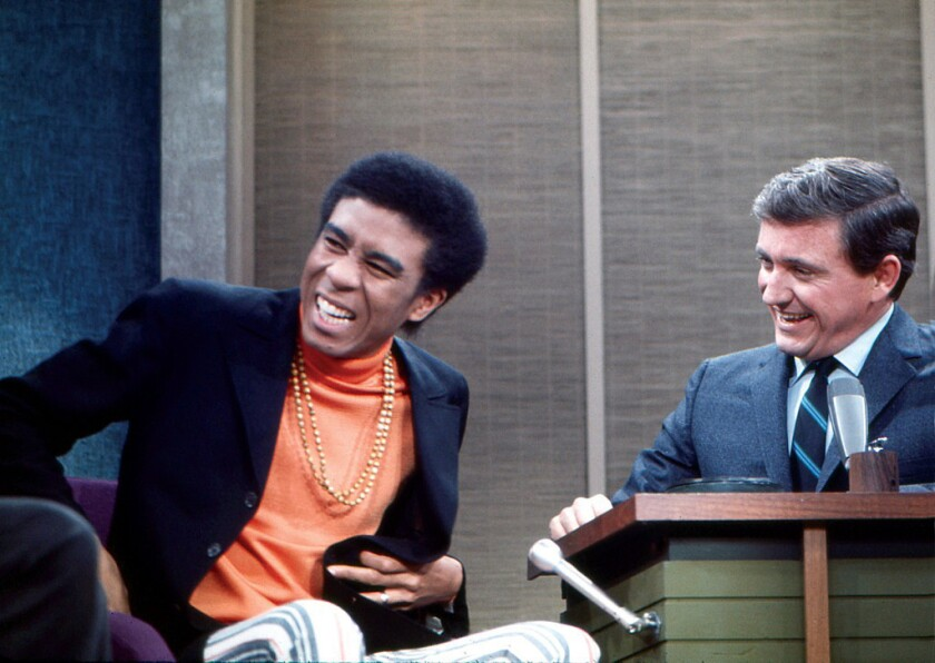 """Merv Griffin, right, hosts comedian Richard Pryor on his long-running talk show, 44 episodes of which are collected in a new DVD set, """"The Merv Griffin Show, 1962-1986."""""""