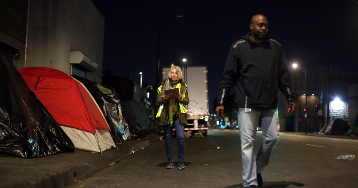 L.A.'s homeless count begins