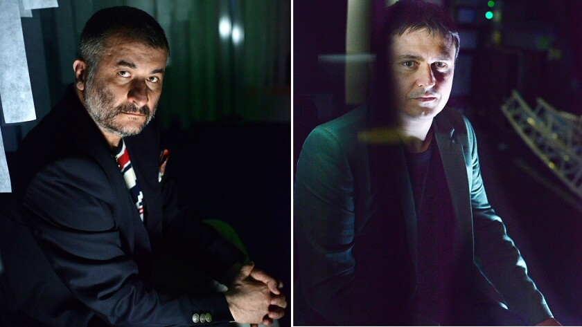 Romanian film directors Cristi Puiu, left, and Cristian Mungiu have a bit of a budding cinema rivalry.
