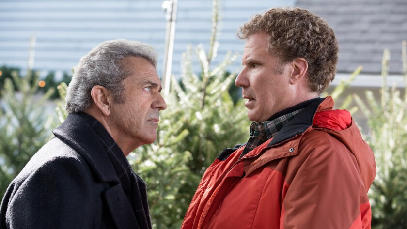 "Mel Gibson, left, and Will Ferrell in the movie ""Daddy's Home 2."""