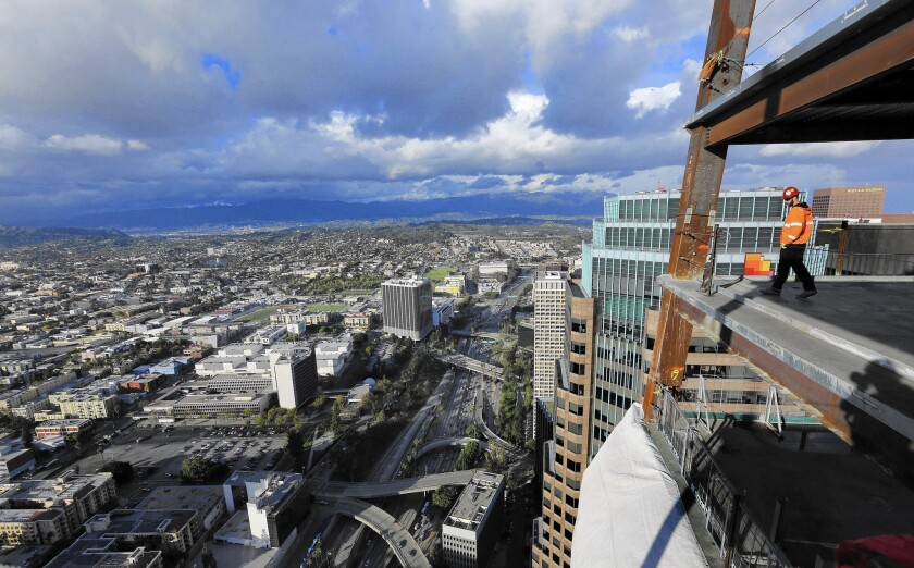 The view from the Wilshire Grand