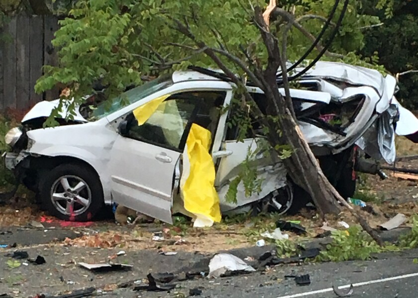 Homeless woman and her dog sleeping in car are killed in crash
