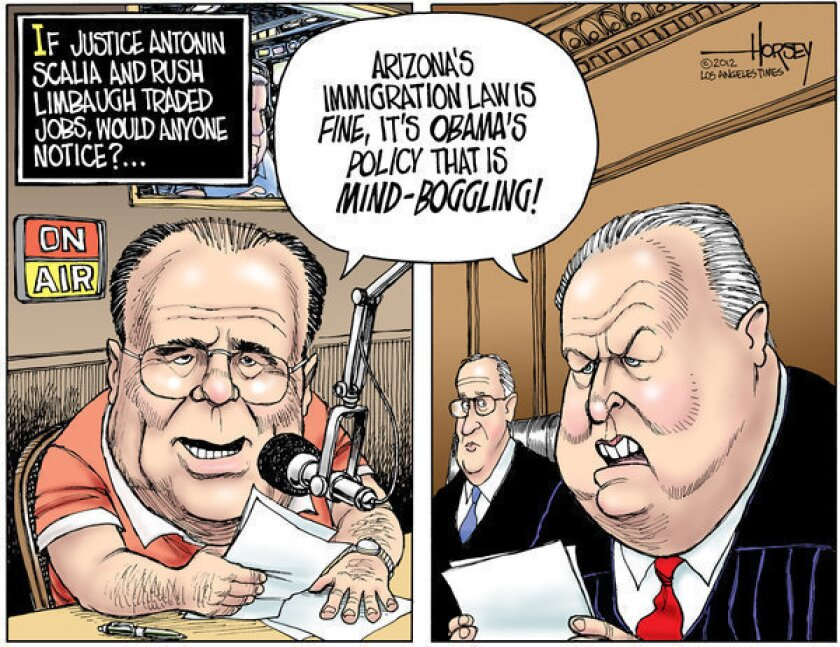 Antonin Scalia and Rush Limbaugh could easily switch jobs