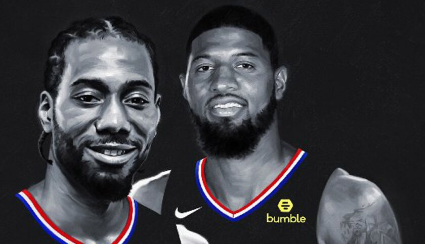 Offseason additions Kawhi Leonard, left, and Paul George make the Clippers must-see TV in the NBA.