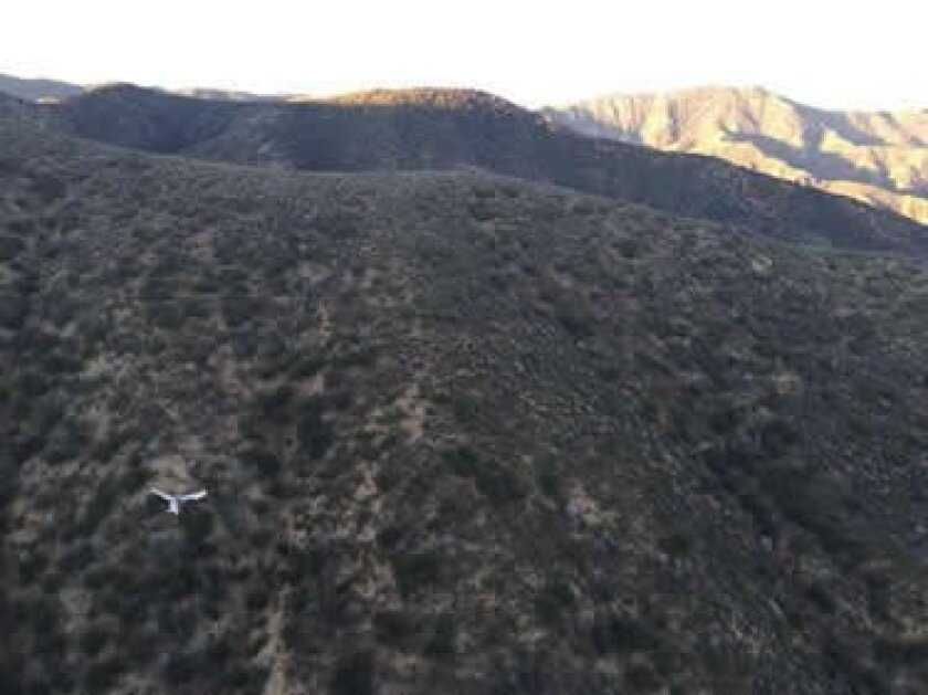 Wreckage of plane flown by David Martz, with passenger Greg Bacina, was found Friday in a remote mountain area of Los Padres National Forest. They were headed to McClellan-Palomar Airport in Carlsbad.