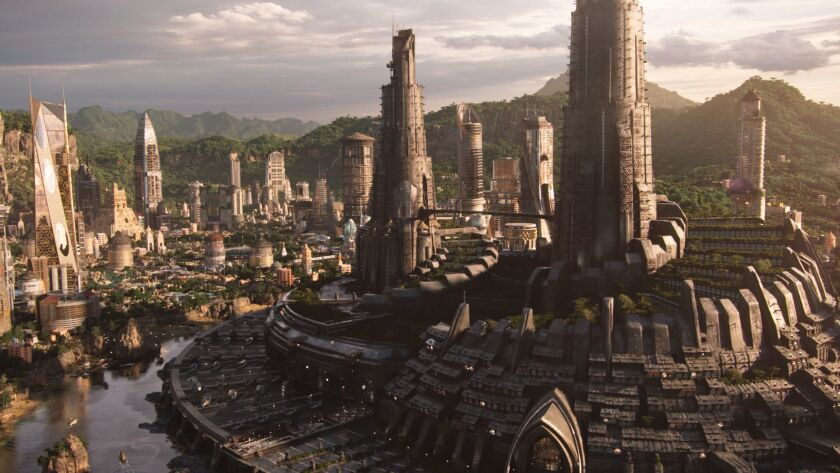 "A scene of Wakanda from Marvel Studios' ""BLACK PANTHER"" Credit: Film Frame/Marvel Studios"