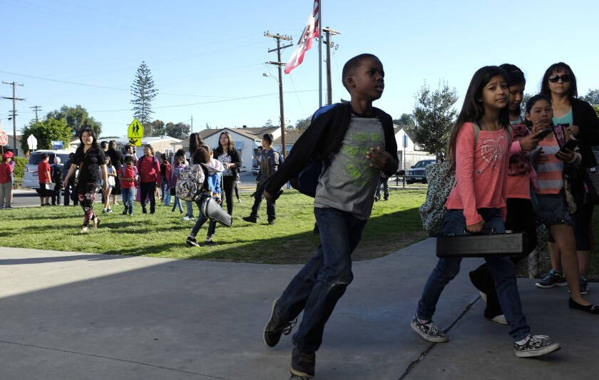 As part of a nationwide day of action, San Diego Unified School District parents and educators had school walk-ins€ to reclaim their campuses from the dangers of overtesting. (John Gastaldo / San Diego Union-Tribune)