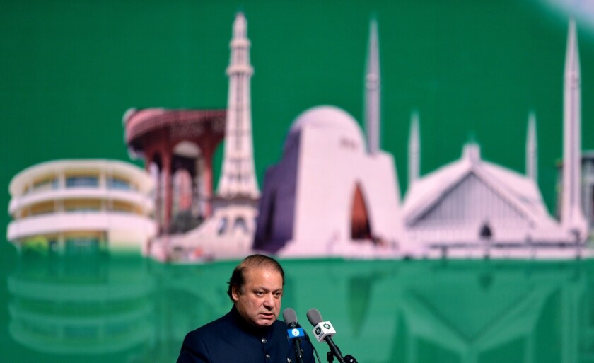 Pakistani Prime Minister Nawaz Sharif has called for talks with India.