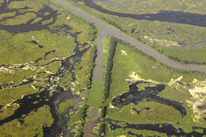 Louisiana canals, pipelines
