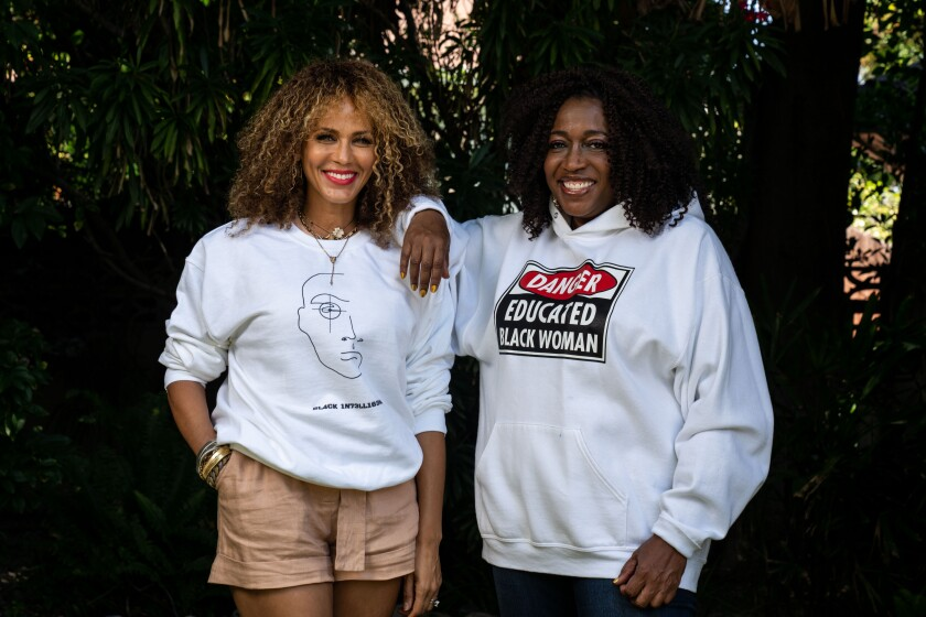 "Nicole Ari Parker and Felicia Henderson, from Showtime's ""Soul Food."""