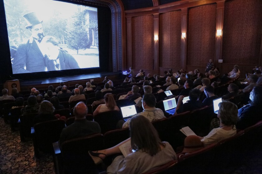 """Scholars, archivists and film enthusiasts attend the """"Mostly Lost"""" film festival at the Library of Congress Packard Campus to screen and identify silent films."""