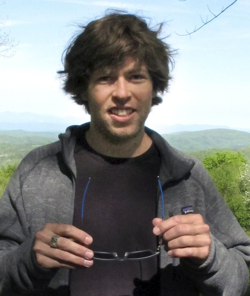 In this May 26, 2016 photo, former world-class snowboarder Kevin Pearce poses for a photo at a retreat in Lincoln, Vt., hosted by the Love Your Brain Foundation, started by Pearce and his brother. A near-fatal halfpipe crash while training for the 2010 Olympics ended Pearce's snowboarding career an