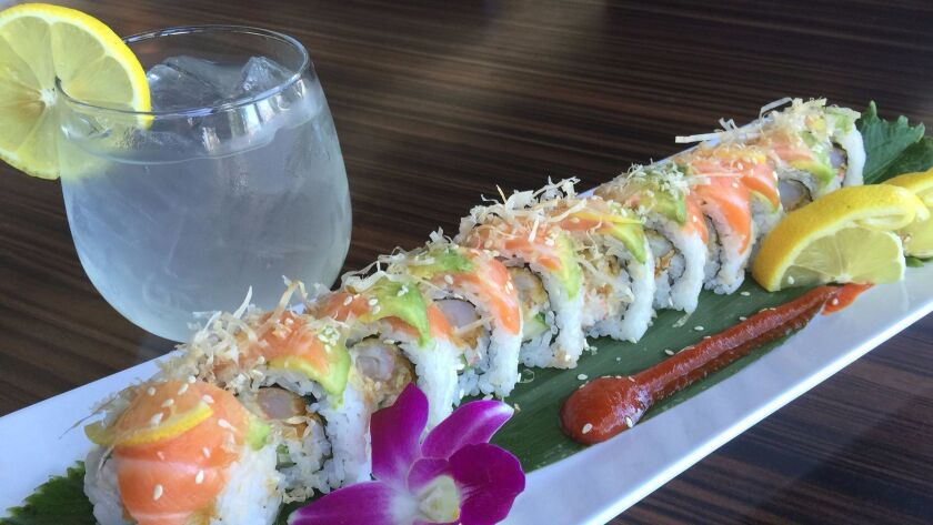 At Sabuku Sushi, more is more. The Rising Sun roll is bright and flavorful, bringing together shrimp