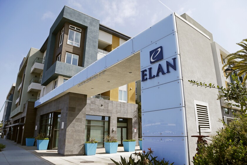 The Elan Huntington Beach luxury apartments were completed in 2016.