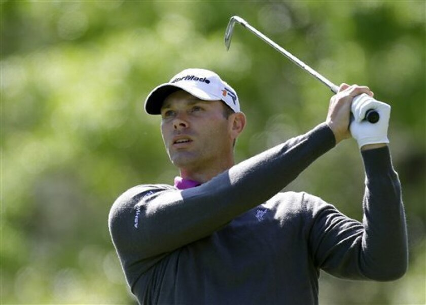 Shawn Stefani tees off on the 15th hole during the first round of the Tampa Bay Championship golf tournament on Thursday, March 14, 2013, in Palm Harbor, Fla. (AP Photo/Chris O'Meara)