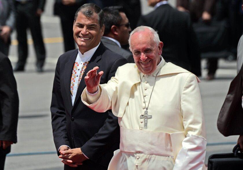 Pope in Ecuador