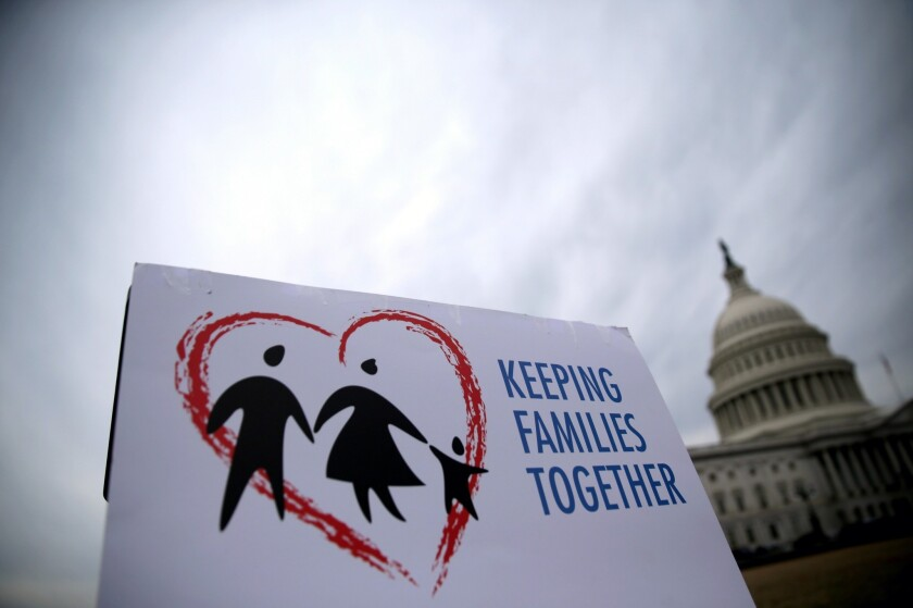 Immigration reform activists argued their point in Washington this week.