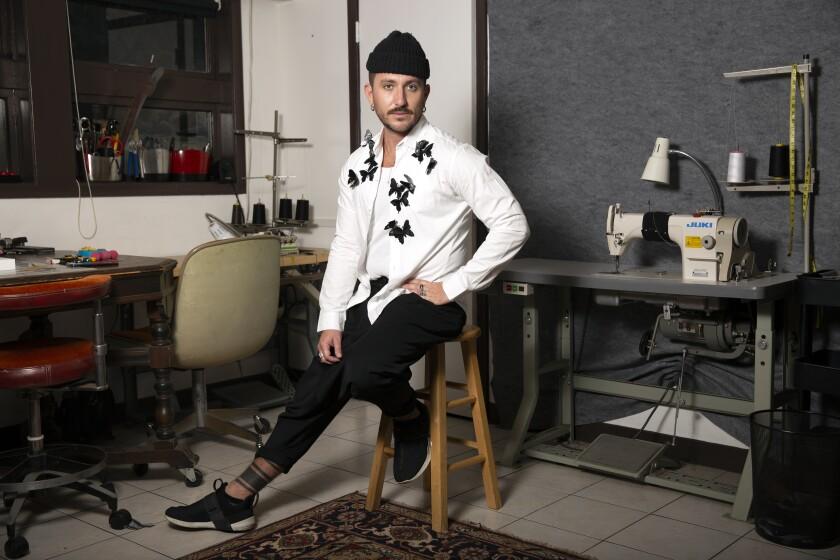 Designer Jonny Cota at home in Los Angeles.