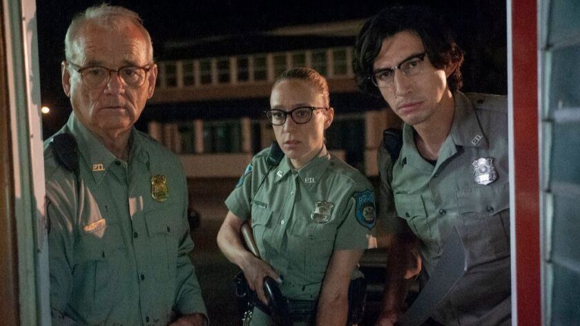 """Bill Murray, left, Chloë Sevigny and Adam Driver in the movie """"The Dead Don't Die."""""""