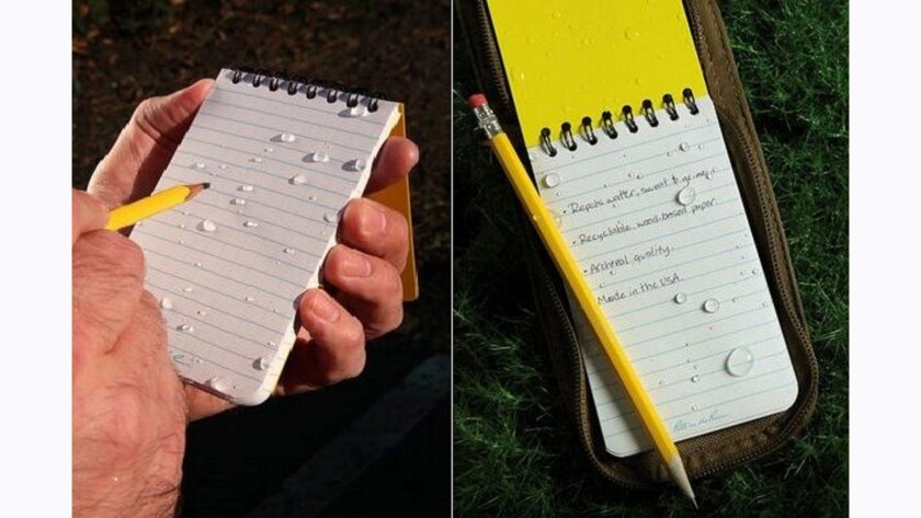 WRITE AS RAIN: Travelers who wouldn't go anywhere without a notepad handy to record observations