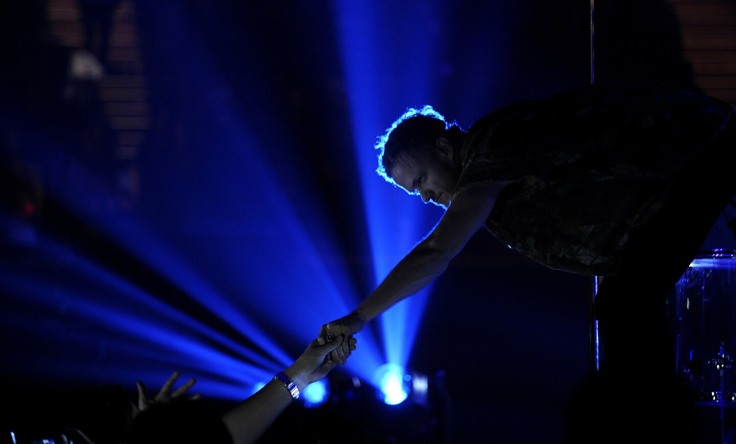Dan Reynolds of the group Imagine Dragons performs on stage at the 25th Annual KROQ Almost Acoustic Christmas on Dec. 14.
