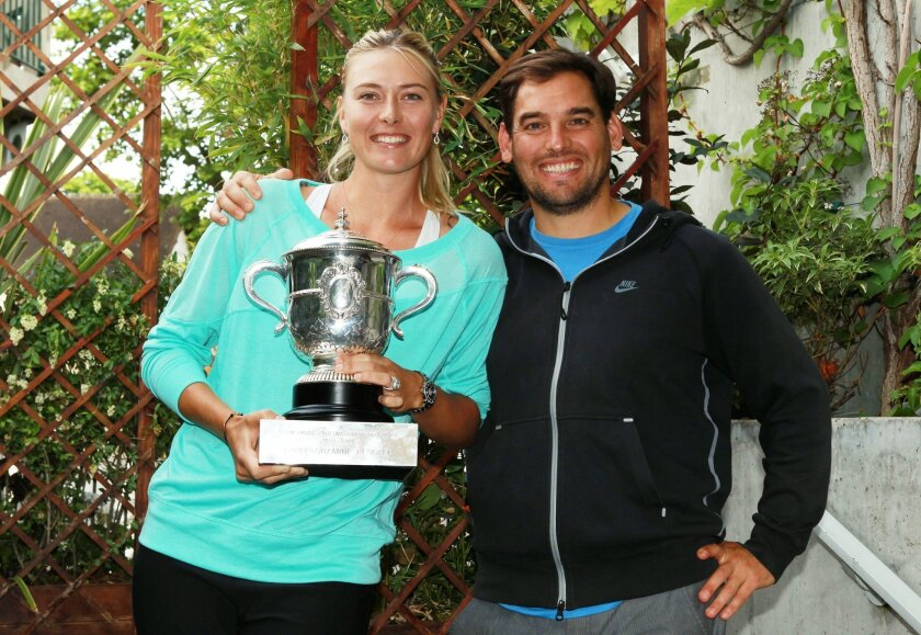 Maria Sharapova with Juan Reque: 'There is nobody who knows my body better than Juan Reque,' the tennis pro says.