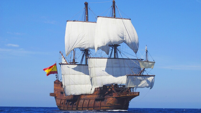El Galeon will pay a visit to New York begining July 5. It's a replica of a 16th century Spanish vessel.