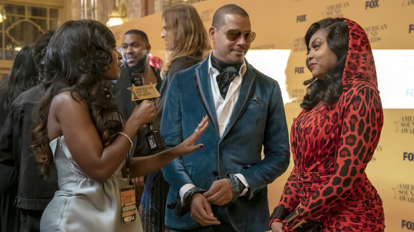 "Guest star Kendra G, left, Terrence Howard and Taraji P. Henson in ""Empire"" on Fox."