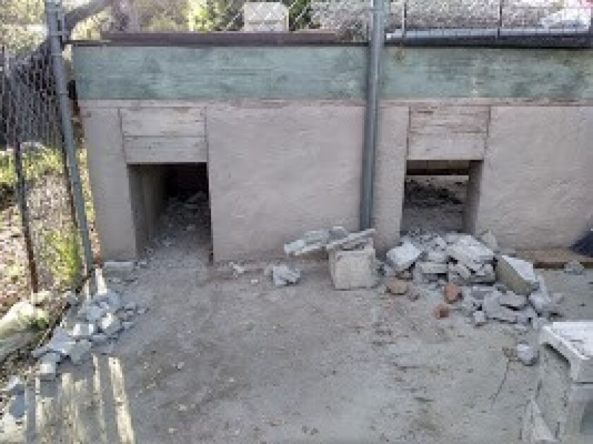 The kennel before the Campbell family began renovations at the end of March.