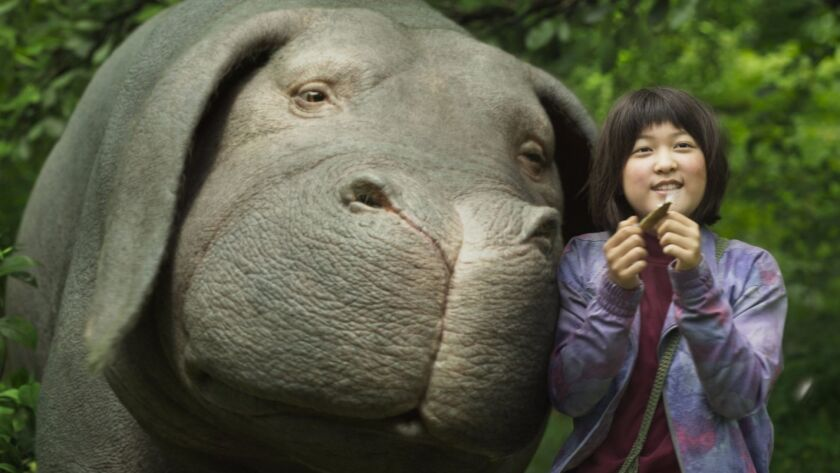 "Seo-Hyun Ahn as Mija in ""OKJA."""