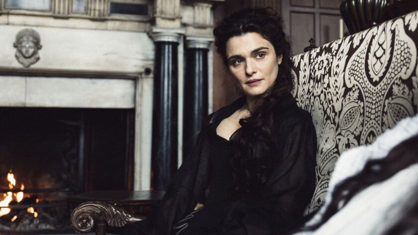 "This image released by Fox Searchlight shows Rachel Weisz in a scene from ""The Favourite."" On Thursd"