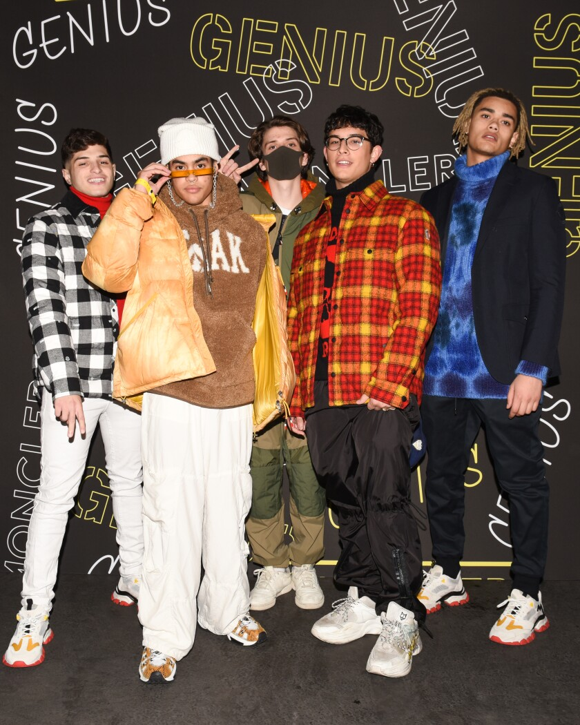 Popular boy band PrettyMuch at the Moncler House of Genius launch party