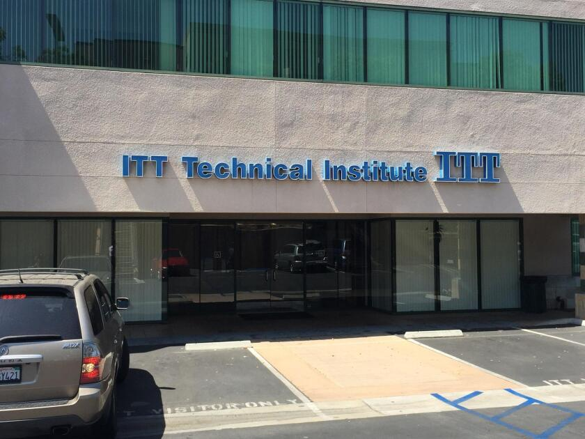 ITT Technology Institute, which had locations in Vista and National City prior to its closure in 2016, is one example of a national for-profit schools. For-profits are drawing the ire of veteran advocacy groups for trying to take advantage of veteran students.