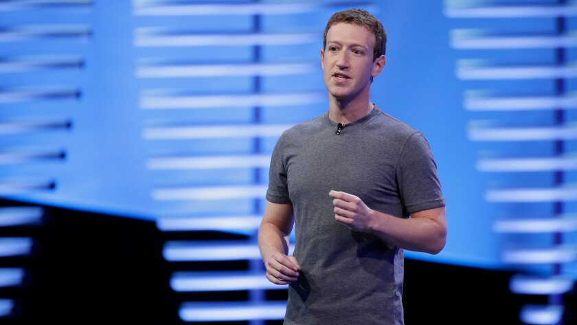 Facebook Chief Executive Mark Zuckerberg speaks during the keynote address at the F8 Facebook Developer Conference in San Francisco.