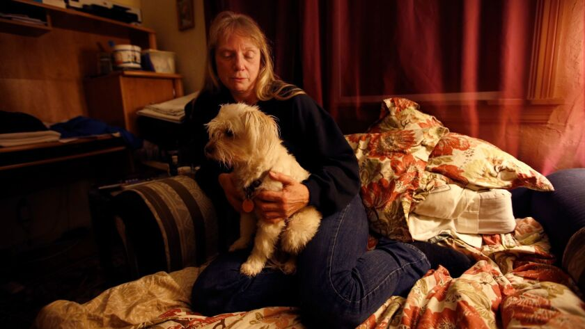 Joy Newhart, who was evicted from a converted warehouse in Oakland deemed unsafe by the authorities.