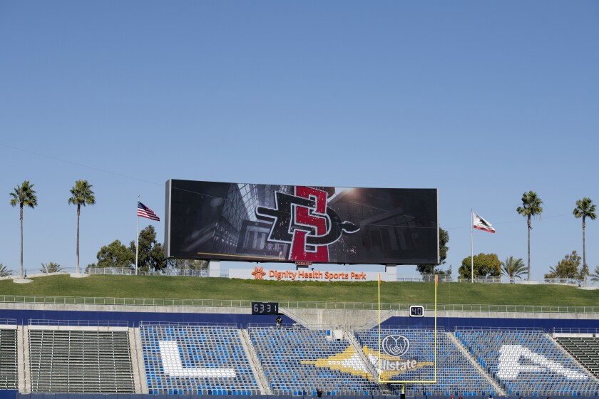 San Diego State is scheduled to play seven football games this season in Carson's Dignity Health Sports Park.