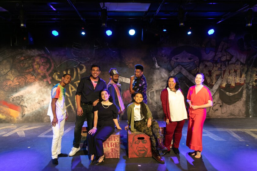 """The cast and creatives for Teatro San Diego's """"Songs for a New World"""""""