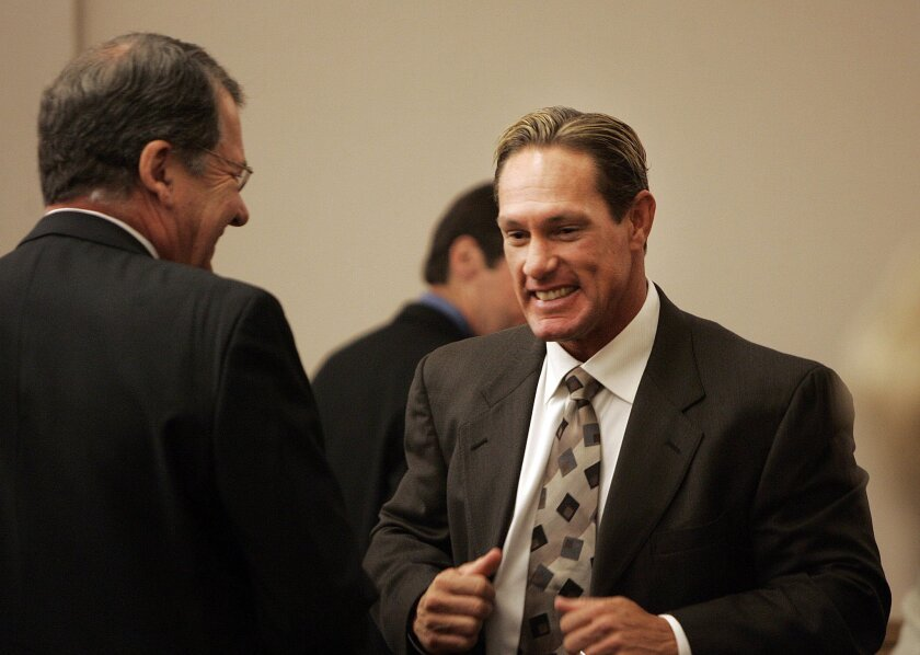Brian Giles in April 2011, after a jury ruled in his favor against his ex-girlfriend Cheri Olvera.