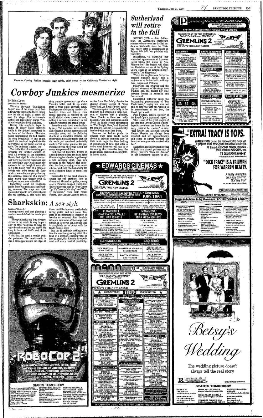June 21 1990 California Theater concert