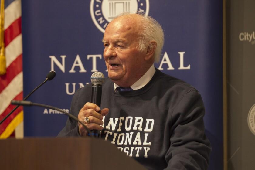 La Jolla philanthropist T. Denny Sanford donated a record $350 million to National University.