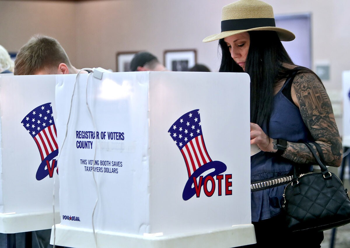 Photo Gallery: Stratiscope holds a Party at the Polls as crowds come out to vote in Burbank
