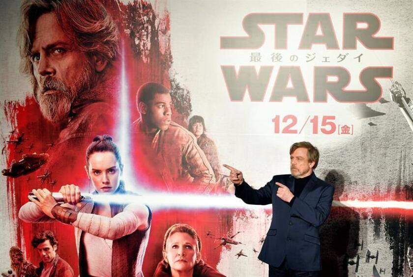"""Star Wars: The Last Jedi"" se mantuvo este fin de semana como líder en Estados Unidos para cerrar 2017 por delante de ""Jumanji: Welcome to the Jungle"" y ""Pitch Perfect 3"". EFE/ARCHIVO"