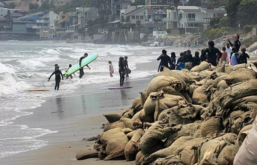Malibu beach at risk