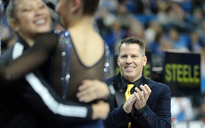 UCLA gymnastics coach Chris Waller is proud of what the Bruins accomplished in his first season leading the program.