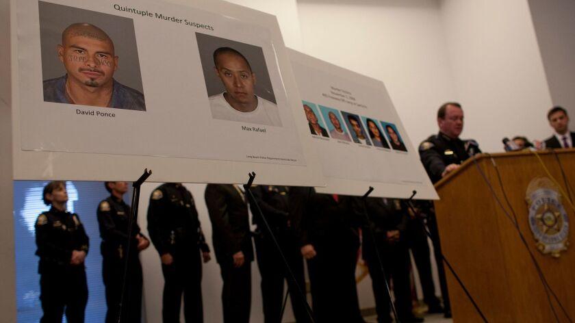 Trial begins in case of two men accused of five murders at