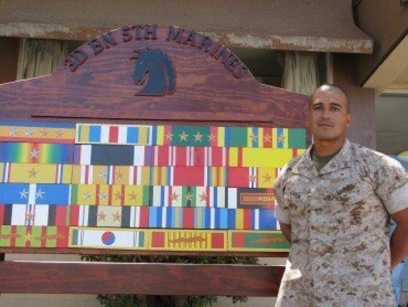 1st Lt. Victor Garcia at Camp Pendleton.
