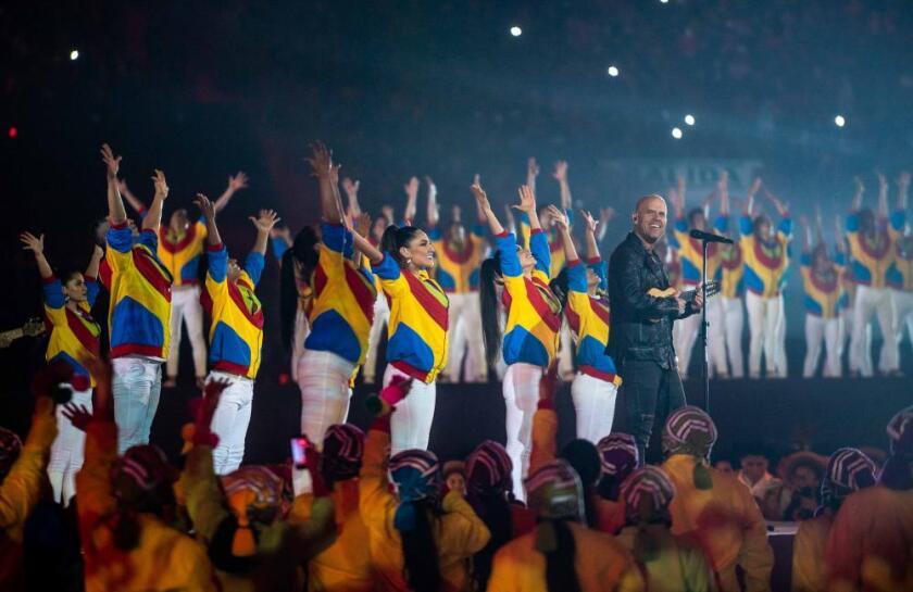 Gian Marco en la ceremonia de clausura de Lima 2019
