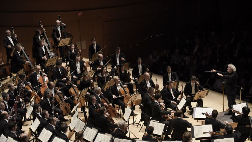 LOS ANGELES, CA- November 19, 2016: The Berliner Philharmoniker along with their conductor, Sir Sim