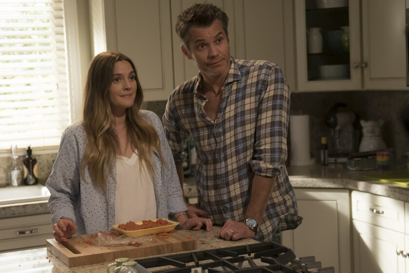 """""""Santa Clarita Diet,"""" a comedy on Netflix, stars Timothy Olyphant and Drew Barrymore."""